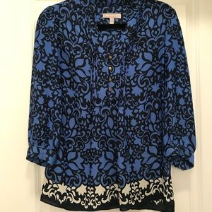 Banana Republic Like New Blue Floral Top